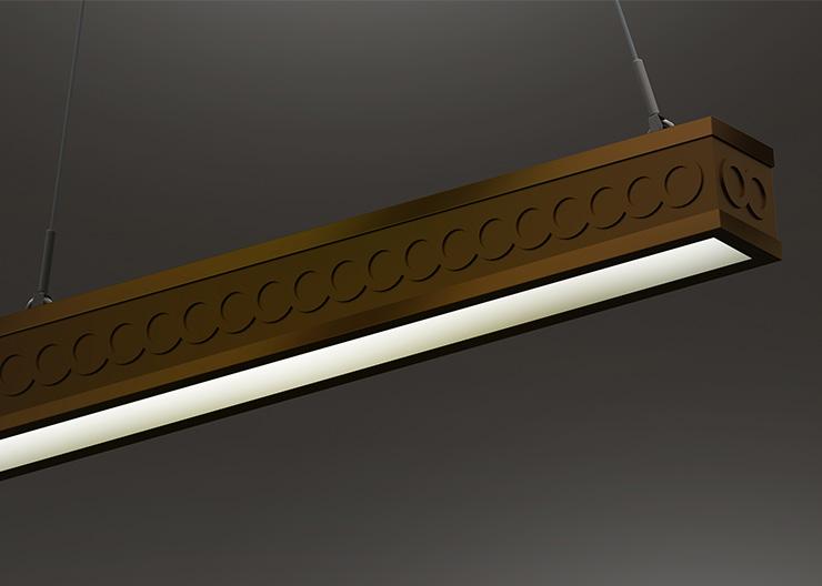 Heritage style linear luminaire